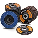 """Mestool 22 Pack Flap Disc, 4.5"""" x 7/8"""", Type 29 Zirconia Abrasive Grinding Wheel and Flap Sanding Disc, Includes 40/60…"""