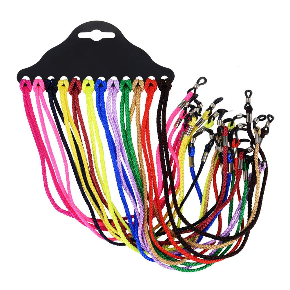 12pcs Eyewear Cord Glasses Strap Eyeglass Chain Sunglass Holder String Nylon Neck Strap Rope