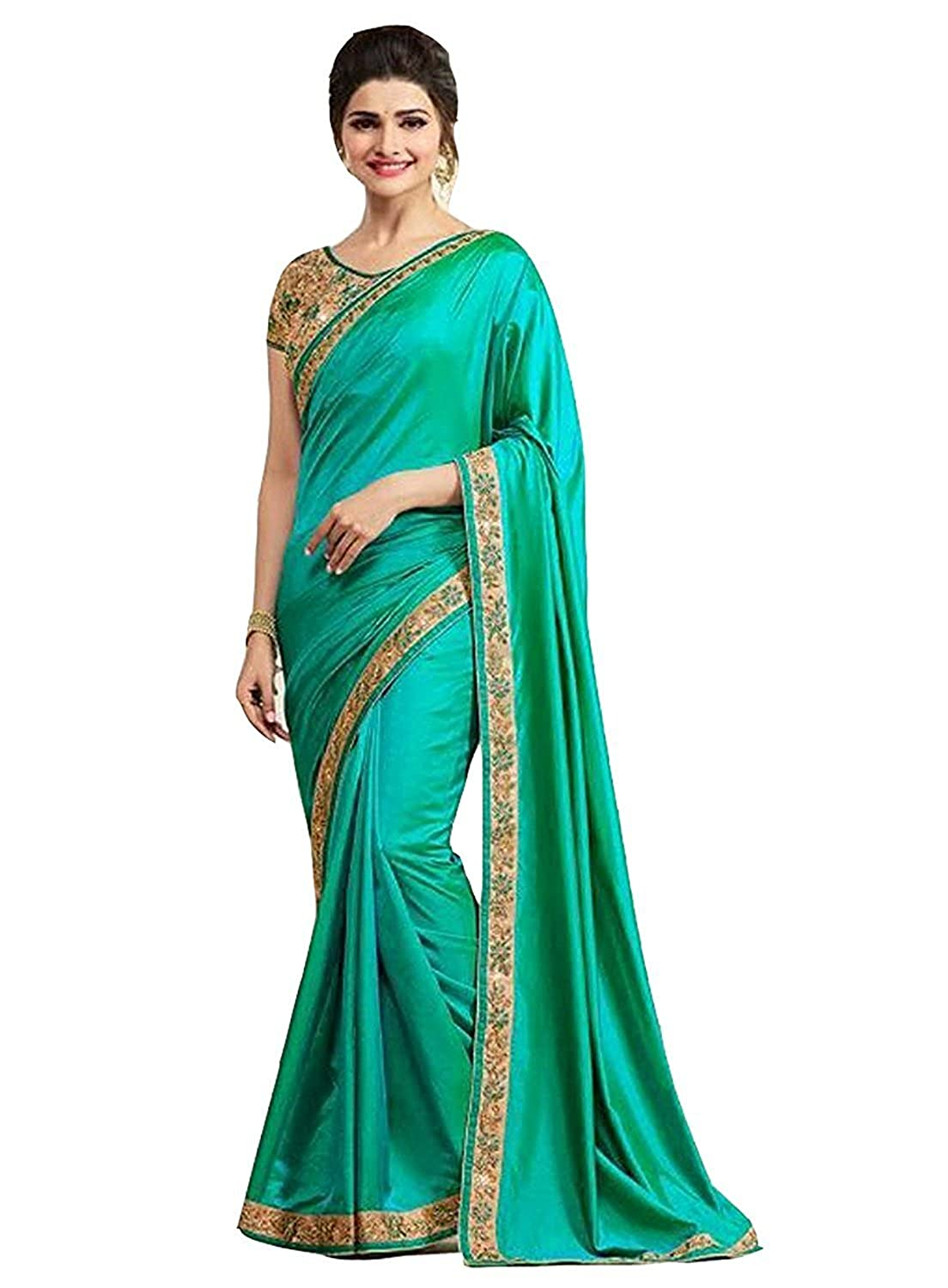 liquidación hasta el 70% Indian Indian Indian Bollywood Style Traditional Women's Silk Saree with Blouse Piece  descuento online