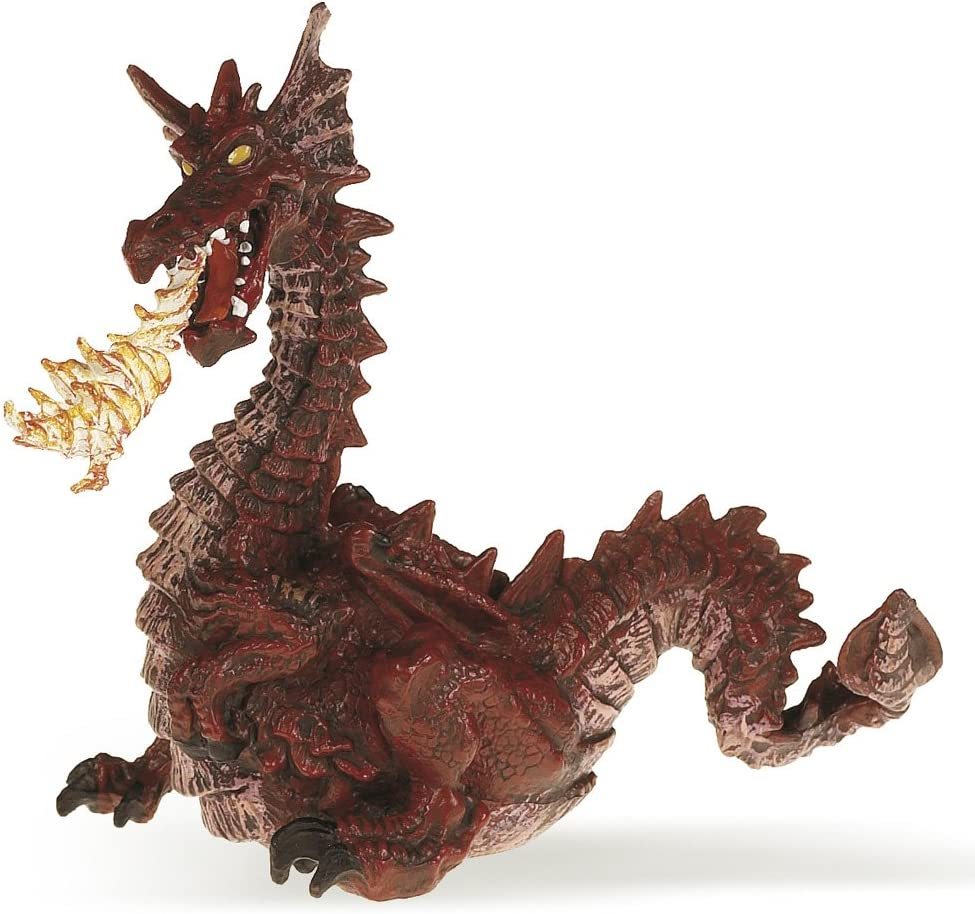 Green Winged Dragon avec flamme par Papo 39025
