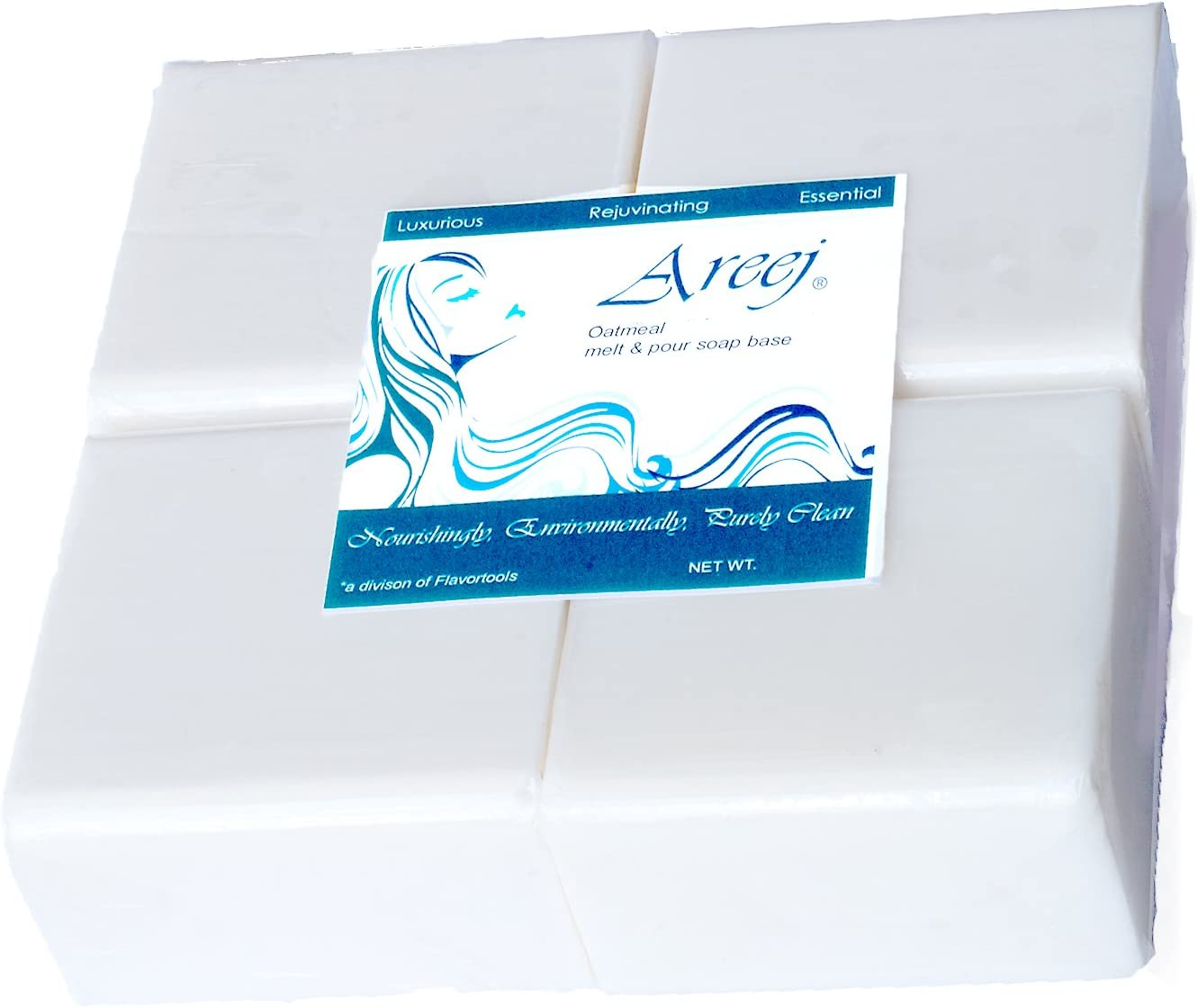 Areej Hypo-Allergenic Biodegradable Goats Milk Soap Base made with 100/% Pure Natural Glycerin 5 Pounds