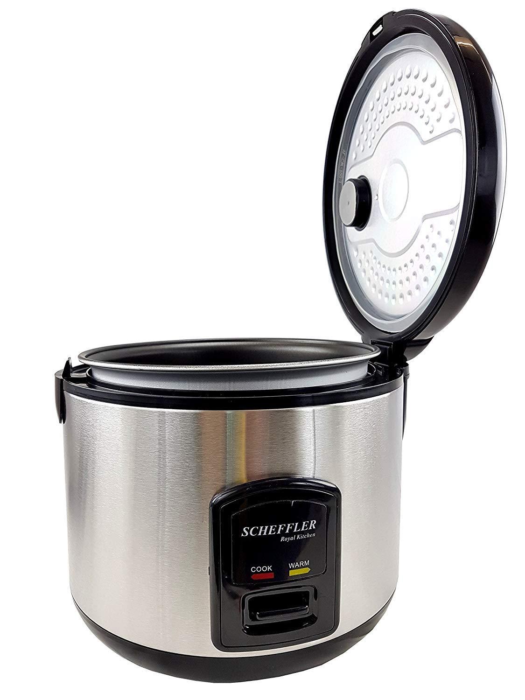 Fornello elettrico riso bollitore 1, 8L cottura a vapore 700W scalda riso risotti Sushi Riso funzione scaldavivande Nero FRX