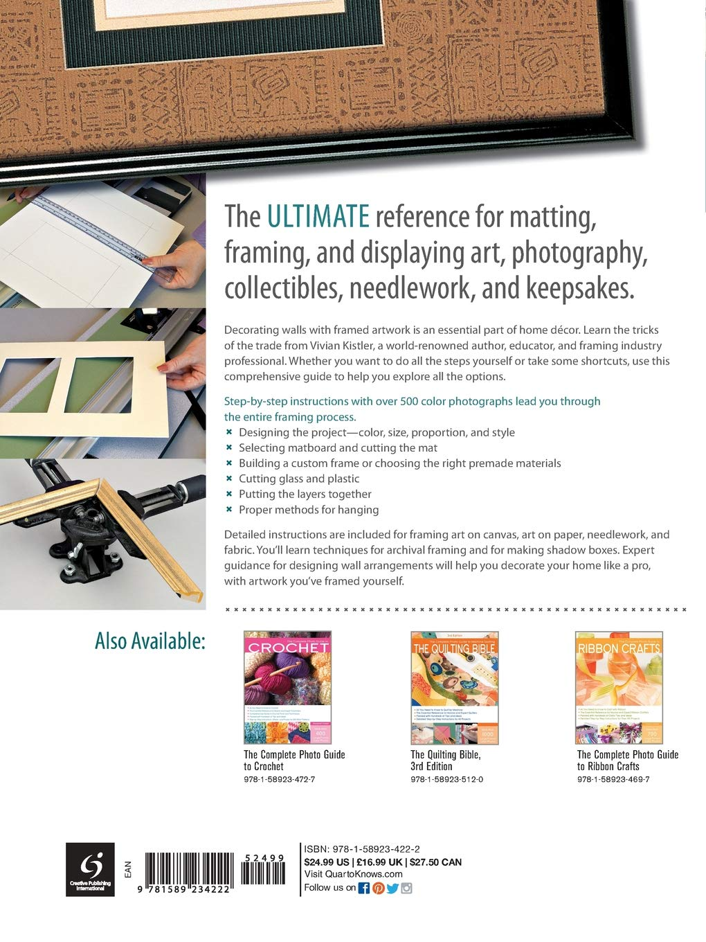 df3100c73d3 The Complete Photo Guide to Framing and Displaying Artwork  500 Full-Color  How-to Photos  Vivian Carli Kistler  0052944017071  Amazon.com  Books