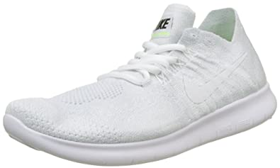 hot sale online 9d415 771cb Nike Free RN Flyknit 2017, Chaussures de Running Femme, Ivoire White-Pure  Gris