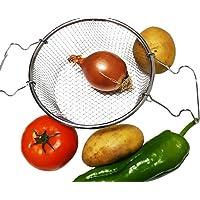 N/A. BIGDOM Cestillo para Freír Cocinar al Vapor Acero Inoxidable Calidad Profesional, con Asas, Cesta Freir, Canasta…