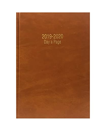 Agenda escolar 2018-2019 de Precious Londos, tamaño A5, desde mediados de año; día por página (idioma español no garantizado), color BROWN/TAN