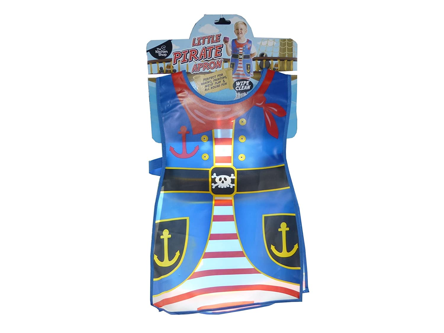 Little Pirate PEVA Wipe Clean Kitchen Painting Apron Waterproof Wipeable Children's Kids Art Aprons Age 2-4 Boys The Kitchen Shop Others
