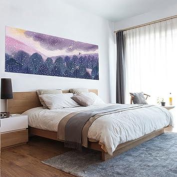GOUZI Die Lila Magischen Wald Kreative Bett   Eine Personalisierte  Startseite Dekor Wandmalerei Ist Eine Voll