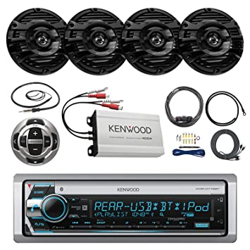 Sistema de barco Marina: Kenwood CD MP3 Receptor Bluetooth, 8 x 8 ""