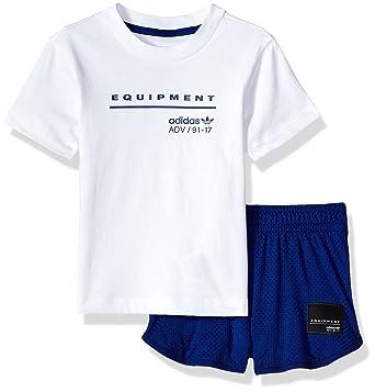 Amazon.com  adidas Originals Baby Boys Infant EQT Short   Tee Set ... 8c64a68aba6d