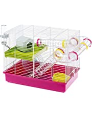 Ferplast CAGE Laura Hamster Cage, Wide Playing Areas, 18, 11x11, 61xH 14, 76-Inch White