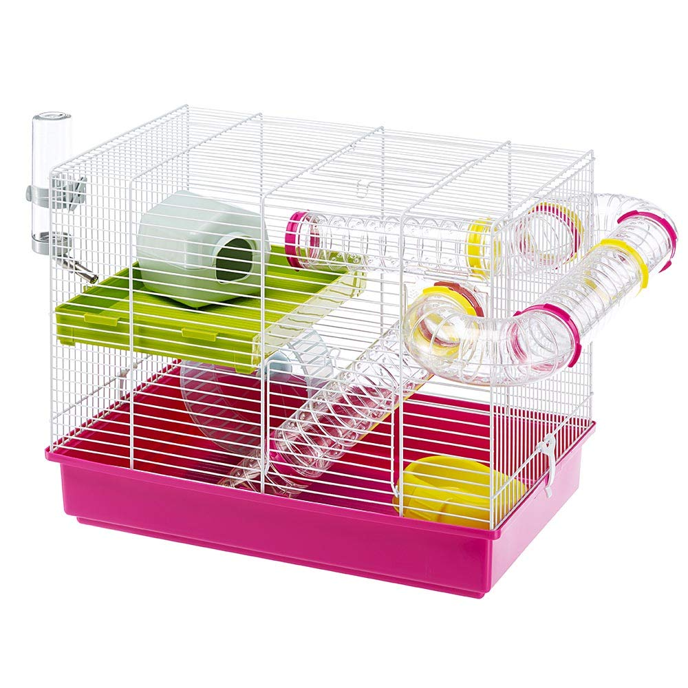 Ferplast Luara Small Hamster Cage   Fun & Interactive Cage Measures Measures 18.11L x 11.61W x 14.8H & Includes All Accessories by Ferplast
