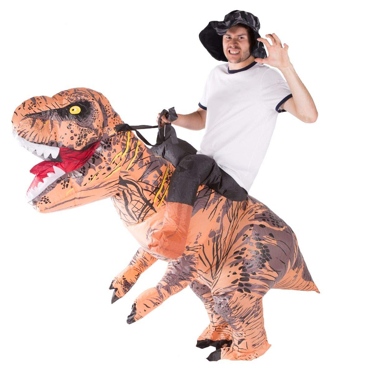 Adult Inflatable Dinosaur Fancy Dress Rider Costume Hallowee