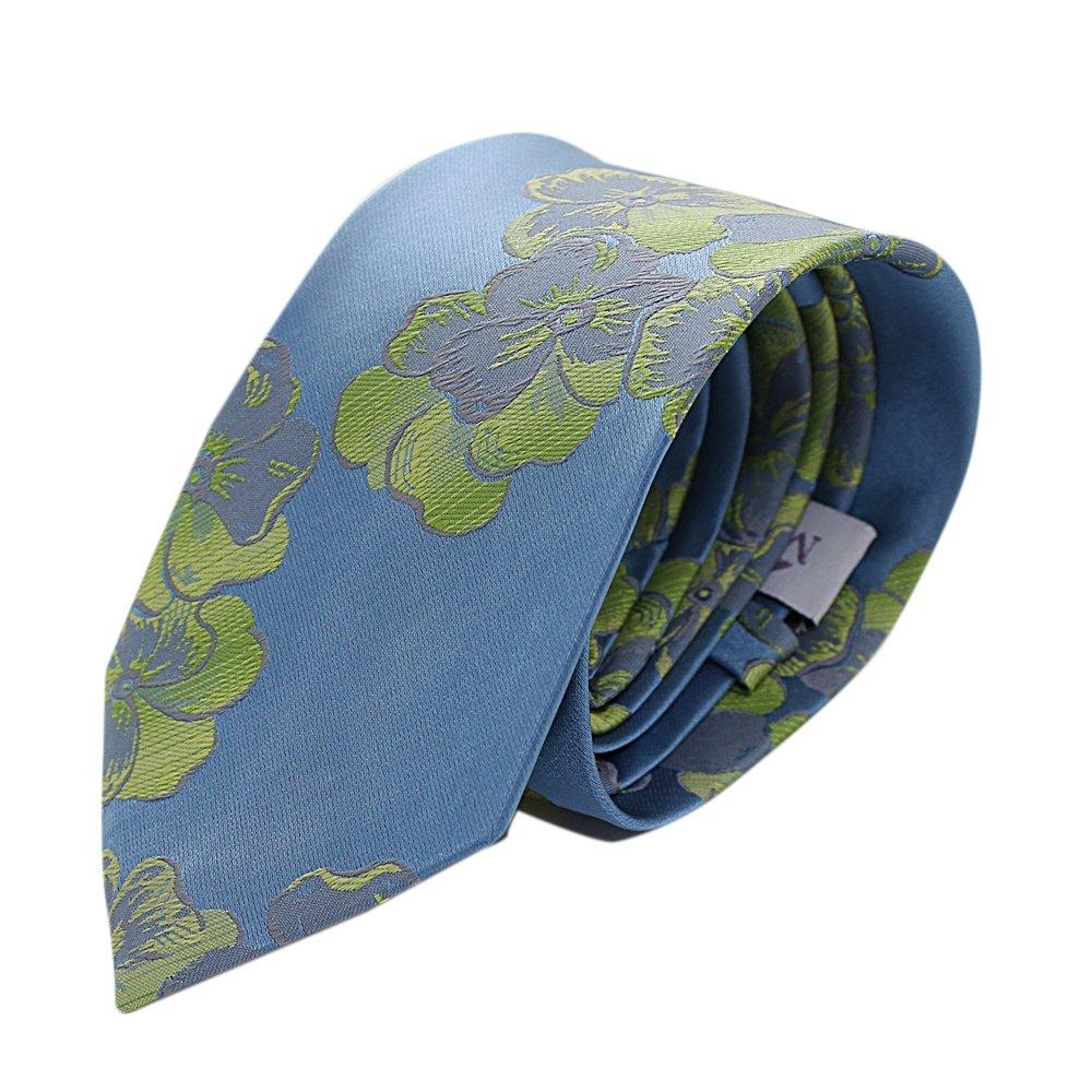 Corbata hombre seda ceremonia malvas azul: Amazon.es: Ropa y ...