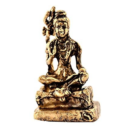 Amazon com: Purpledip Rare Miniature Statue Mahadev Siva, Destroyer