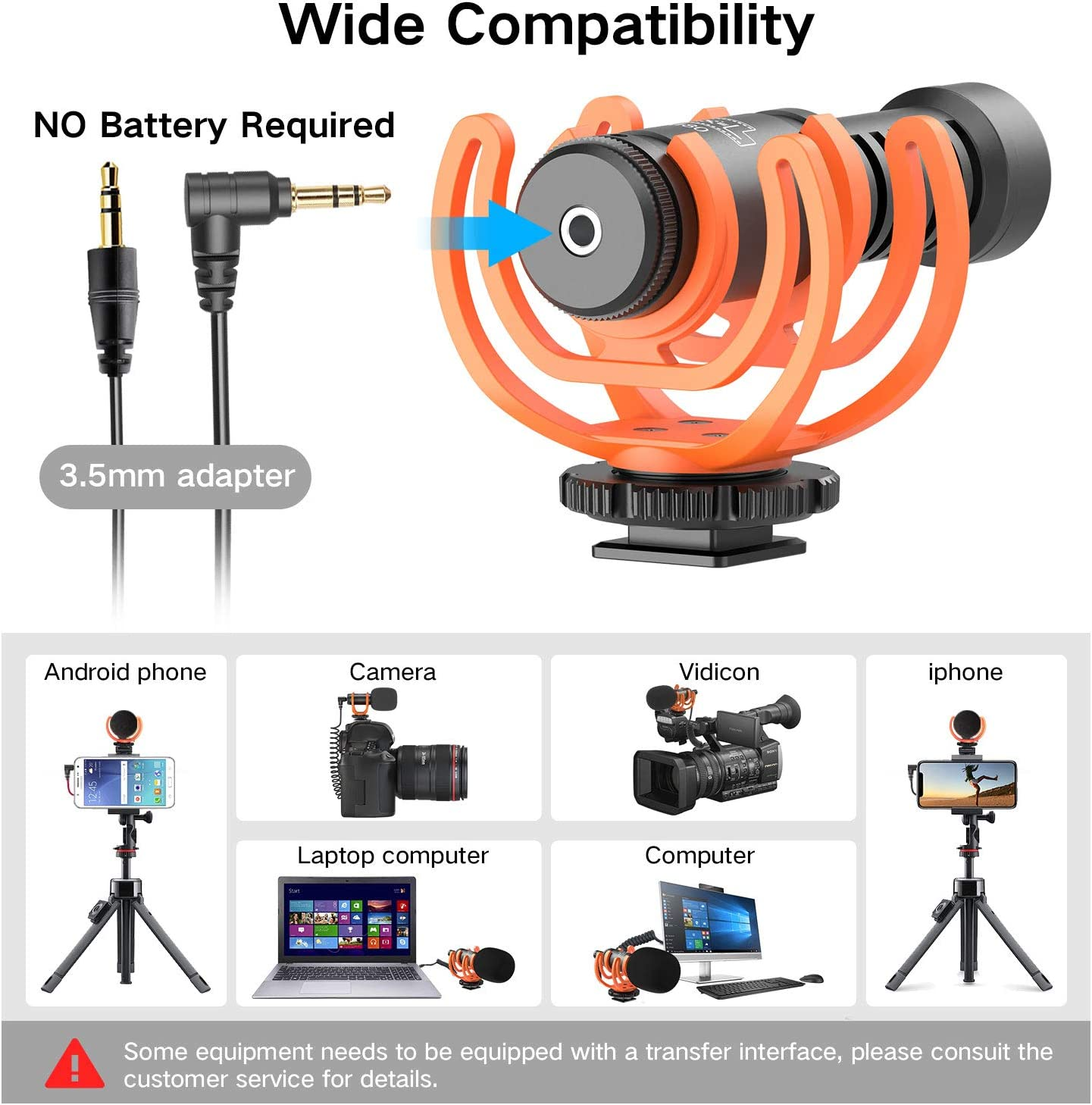 Pixel Shotgun Mic with Lightning Cable,Professional Smartphone Camera Video Microphone Kit for iPhone,Canon,Nikon,Sony DSLR,Cardioid videomicro Perfect for Recording YouTube,Interview