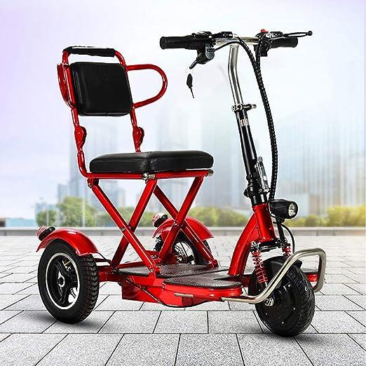 SHENXX Bicicleta eléctrica Plegable de Tres Ruedas para Adultos ...