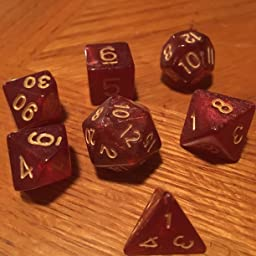 Amazon.com: Wiz Dice 7 Die Polyhedral Dice Set - Philosopher's Stone (Red  Glitter) with Velvet Pouch: Toys & Games