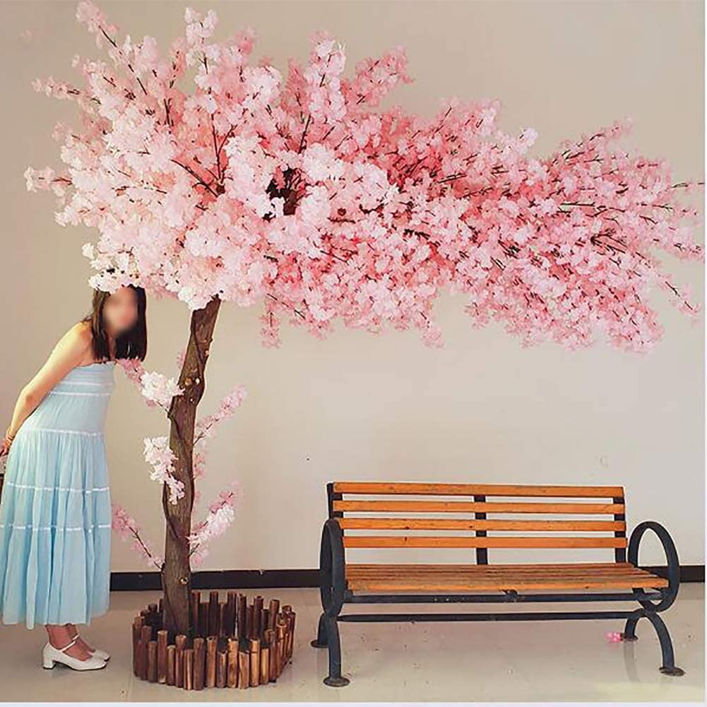 Amazon Com Lxmh Artificial Flower Simulated Cherry Blossom Tree