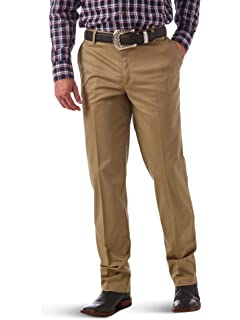 8eae0959 Wrangler Men's Riata Flat Front Relaxed Fit Casual Pant at Amazon ...