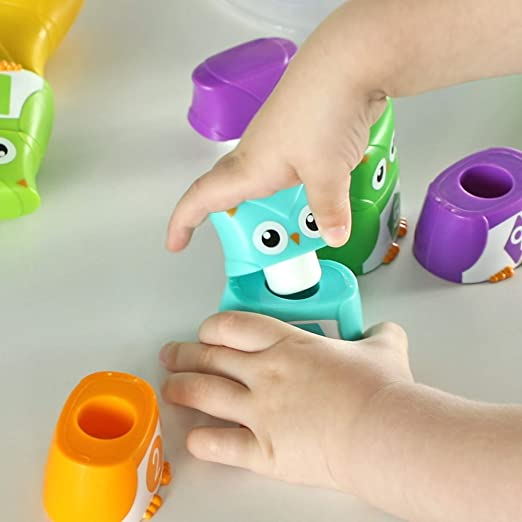 Learning Resources Snap-n-Learn Rainbow Owls 10 Owl Set LER6711
