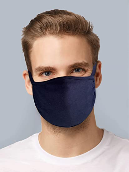 Face Coverings Mask 3-ply 3 LAYER Cotton WASHABLE Reusable UV Protection
