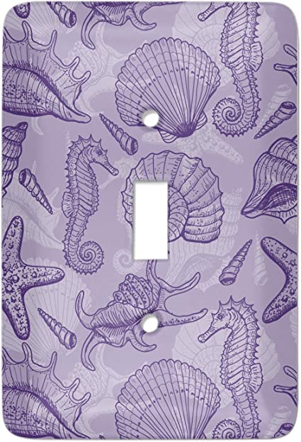 Sea Shells Light Switch Cover Single Toggle Personalized Amazon Com
