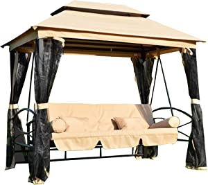 Garden Winds Replacement Canopy Top Cover for The Debora Gazebo Swing - Riplock 350