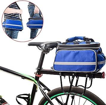 FLYDEER Alforjas para bicicleta, impermeables al aire libre, bolsa ...