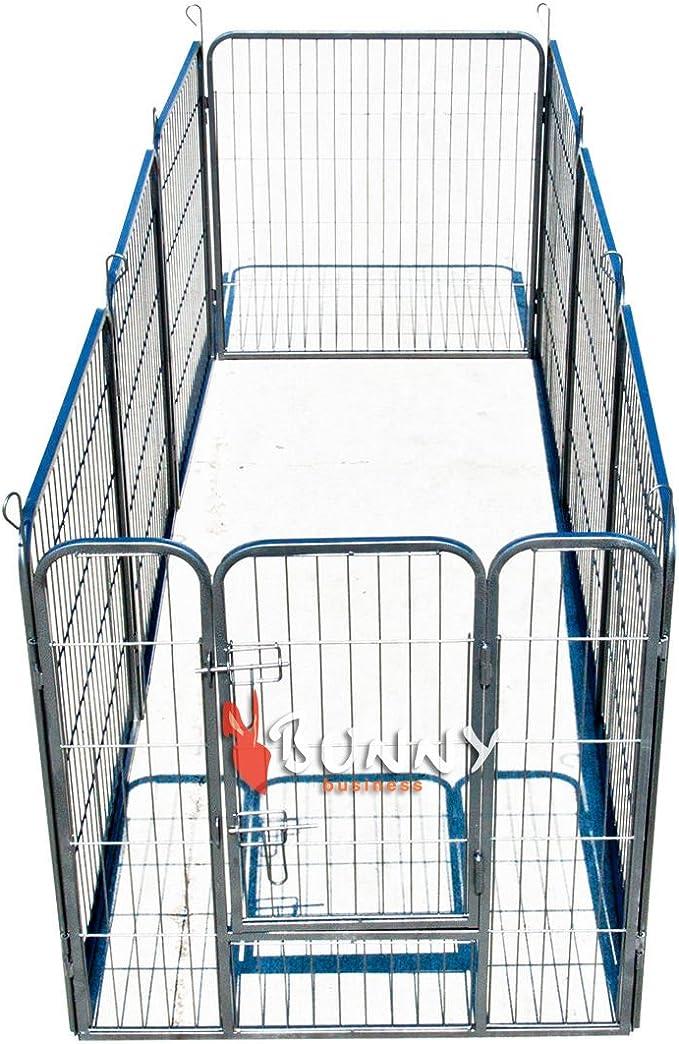 BUNNY BUSINESS Corralito Resistente para Cachorro, Ejercicio, Juegos, 160 x 160 x 80 cm, 8 Piezas: Amazon.es: Productos para mascotas