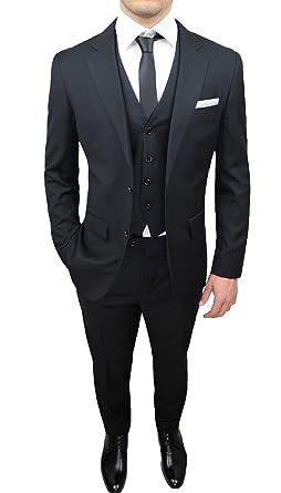 Mat Sartoriale - Costume - Homme Noir Noir 44  Amazon.fr  Vêtements ... ac780113974