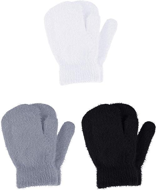 Children Gloves /& Mittens Girl Boy Kids Stretchy Knitted Winter Warm Gloves US