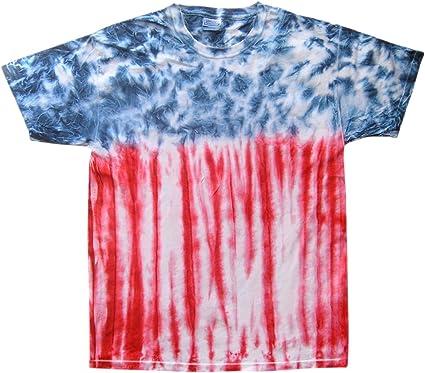 Short Sleeve Multi-Color Patriotic Kids Sizes Tie Dye T-Shirts 100/% Cotton