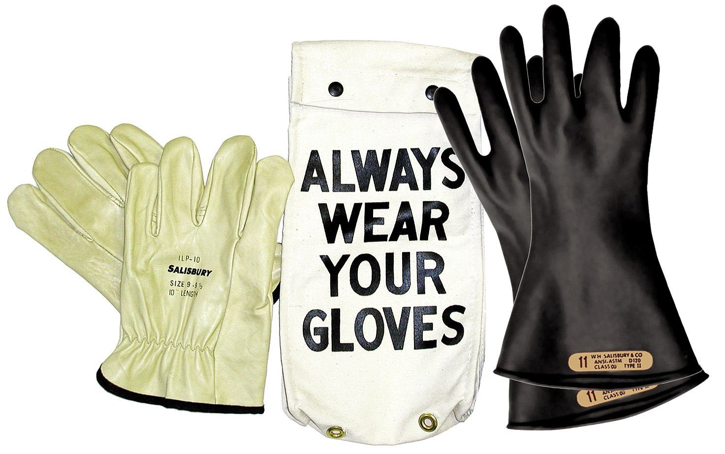 Electrical Glove Kit, Class 0, Sz 8, PR