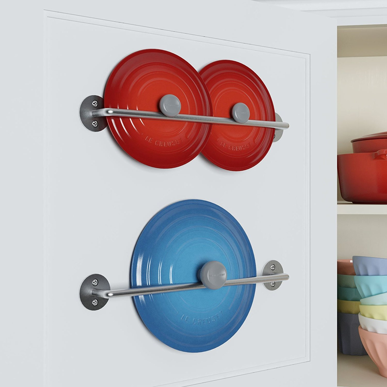 Amazon.com: WALLNITURE Gourmet Kitchen Rail Rack Pot Pan Lid ...