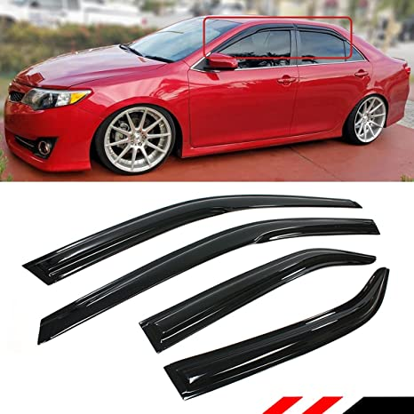 Amazon.com  Cuztom Tuning 3D Style Smoked Window Visor Vent Shade RAIN  Guard for 2012-2014 Toyota Camry LE SE(Won t Fit 2015)  Automotive 9caa8213f91