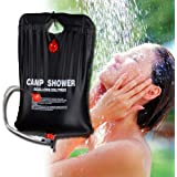 Zoeson 20L/5 Gallon PVC Solar-Heated Outdoor Camping Shower Bag for Hiking & Camping