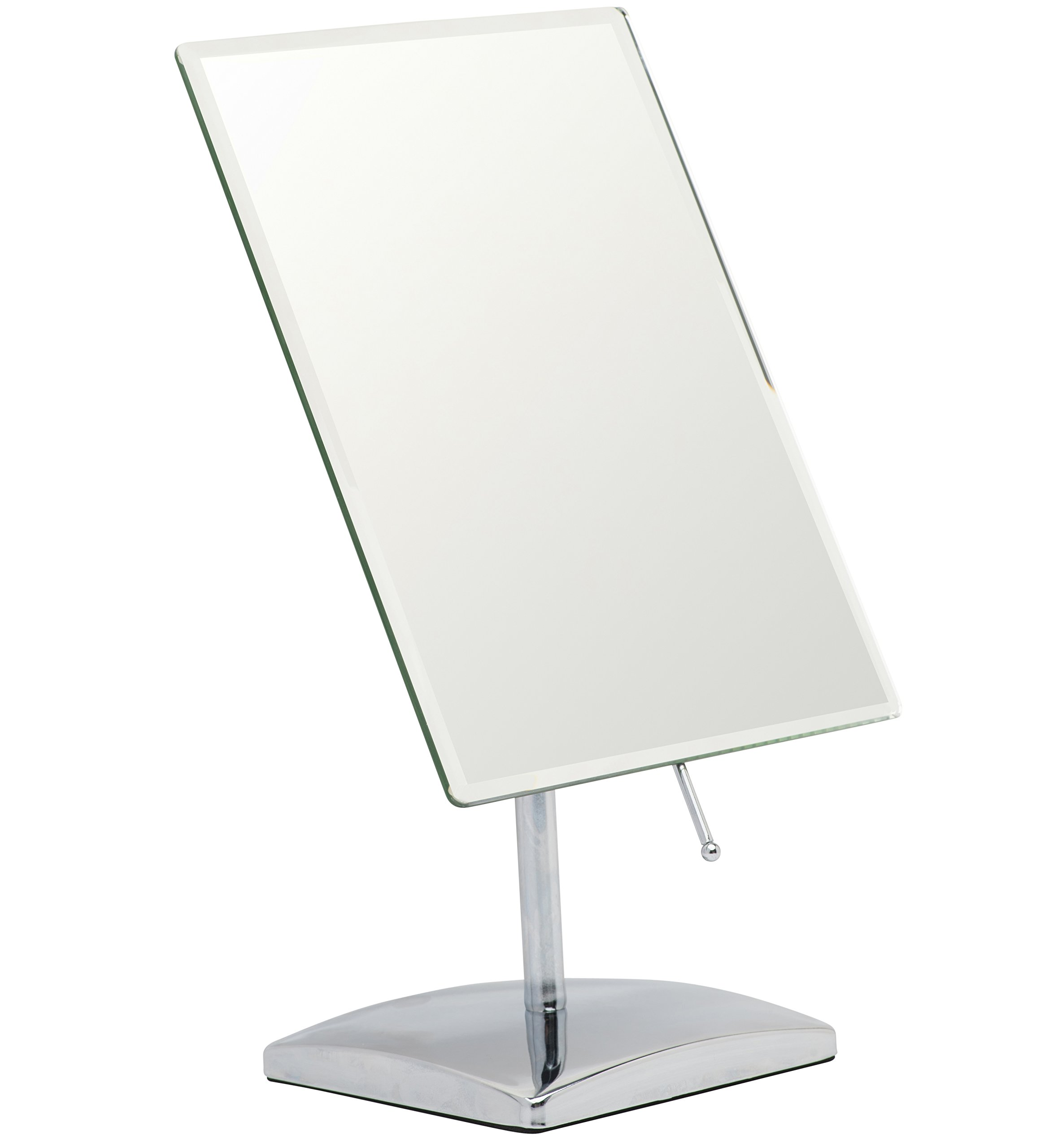 Mirrorvana Non-Magnifying Vanity Makeup Mirror, Perfect Modern & Elegant Frameless Design for Bedroom or Bathroom, Large 9.8'' x 7'' Rectangular Glass Surface