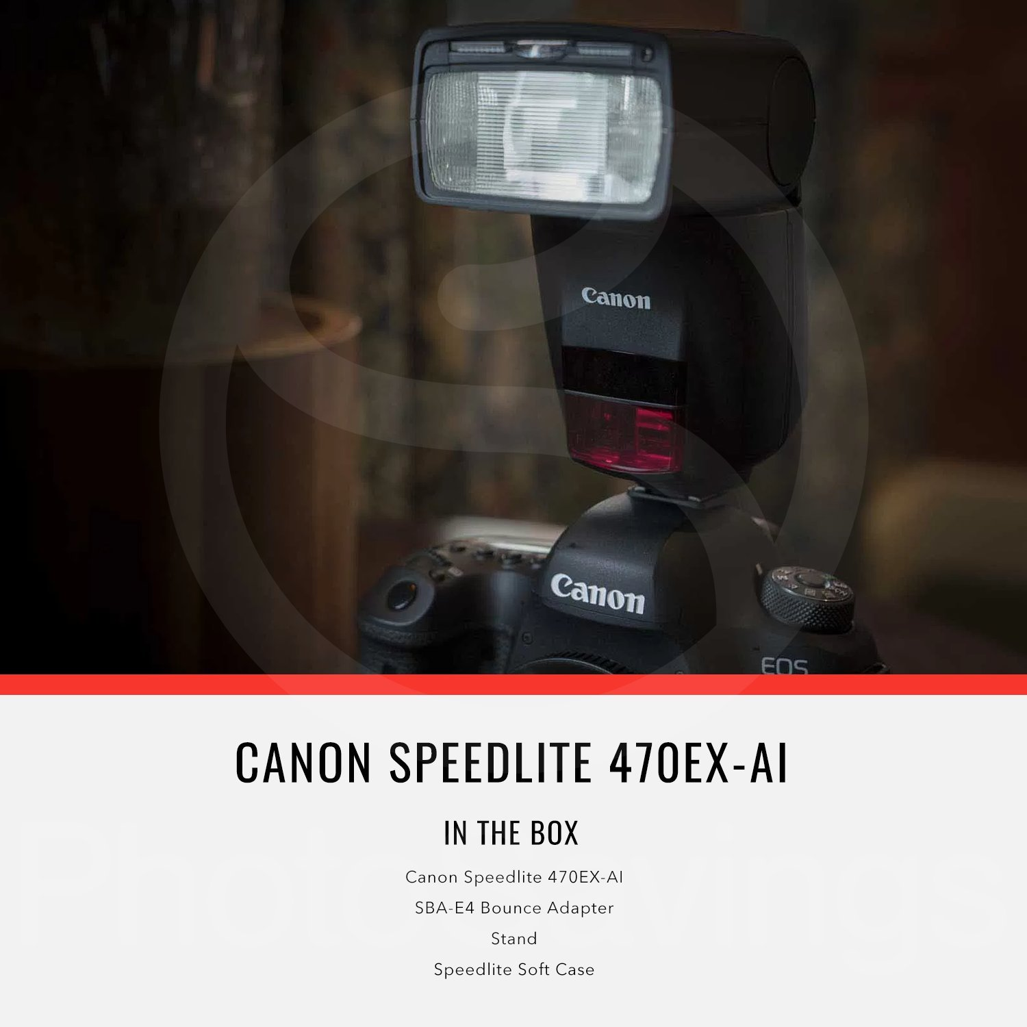 Canon Speedlite 470EX-AI Flash with Diffuser, Batteries & Charger Kit, Xpix Cleaning Accessories, and Basic Photo Bundle by Canon (Image #3)