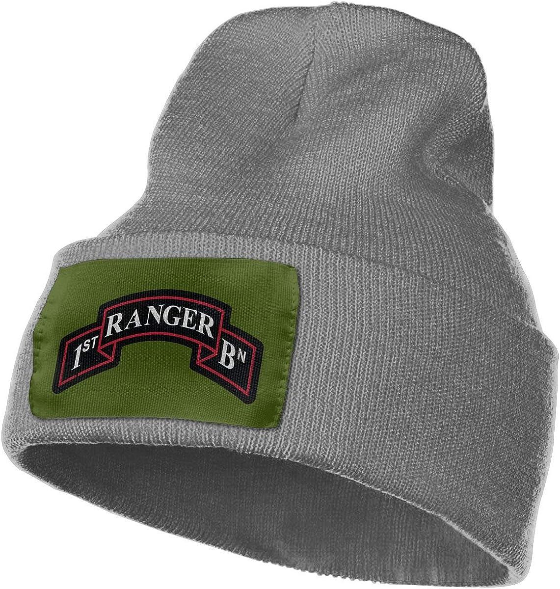 FORDSAN CP US Army Retro 1st Ranger Battalion Mens Beanie Cap Skull Cap Winter Warm Knitting Hats.