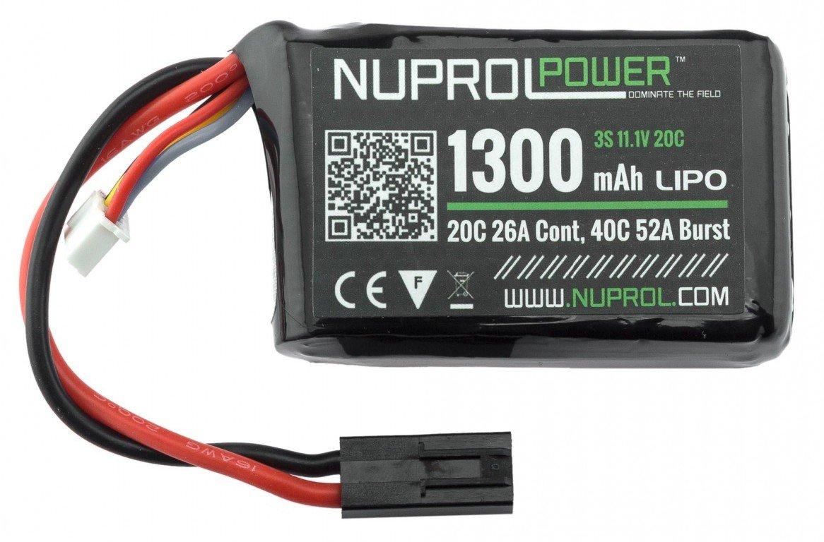 Batterie Micro Lipo Power 11.1 1300 mah 20C PEQ Nuprol