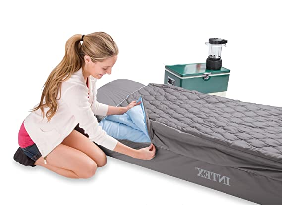 INTEX - Colchón hinchable de 1 plaza con saco de dormir y funda: Amazon.es: Deportes y aire libre