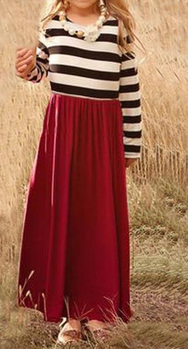 357bcf8e76f Amazon.com  MLDYGYC Mommy and Me Boho Summer Cute Striped Long Beach  Chevron Maxi Dresses  Clothing