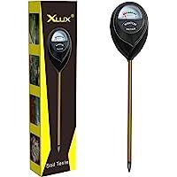 XLUX Soil Moisture Test Sensor Meter Water Monitor, Hygrometer for Gardening, Farming Planting,Black,No Batteries…