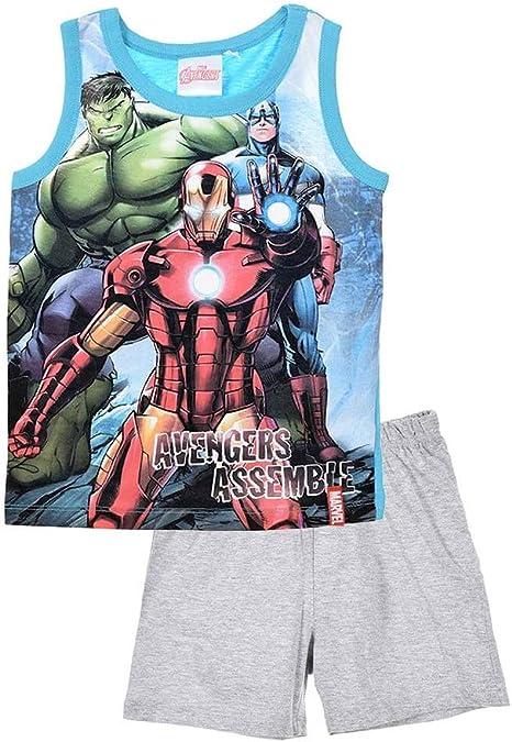 Pyjama débardeur Enfant garçon Avengers Gris/