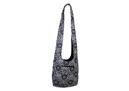 49150306465202 SLING Bag COTTON 40 PRINTs Men or Women CROSSBODY bag LARGE BOHO hippie  hobo handbag (