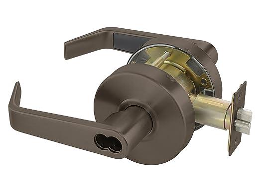 Yale BAU4608LN 626 SFICLC Cylindrical Lockset 626 Satin Chrome Finish SFIC Cylinder Prep Classroom Function Grade 2 2 3//4 Backset Less Cylinder