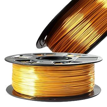 Filamento para impresora 3D de 1,75 mm PLA dorado metálico de seda ...