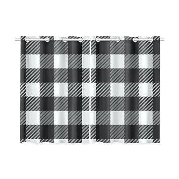 Amazoncom Blackout Window Curtains Black White Buffalo Check