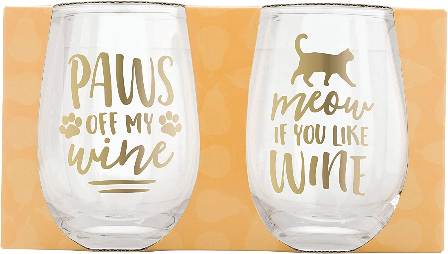 Pearhead Pet Pet Glasses Pet Mugs Perfect Holiday Gift For Any Dog Owner or Cat Owner